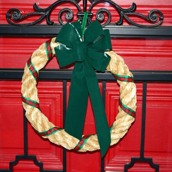 Straw Christmas Wreath - Free High Resolution Photo