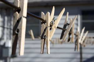 Wooden Clothespins on Clothes Line - Free High Resolution Photo