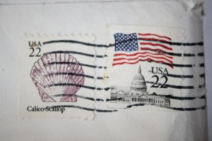22 Cent Stamps Cancelled - Free High Resolution Photo