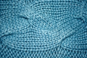 Blue Cable Knit Pattern Texture - Free High Resolution Photo