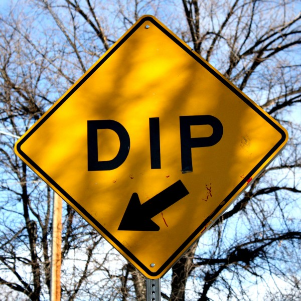 Dip Sign with Arrow - free high resolution photo