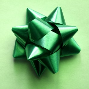 Green Ribbon Bow - Free High Resolution Photo