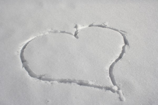 Heart Drawn in Snow - Free High Resolution Photo