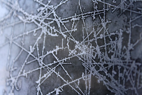 Ice Patterns on Frozen Window Texture - Free High Resolution Photo