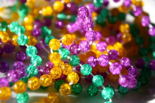 Mardi Gras Beads Closeup - Free High Resolution Photo