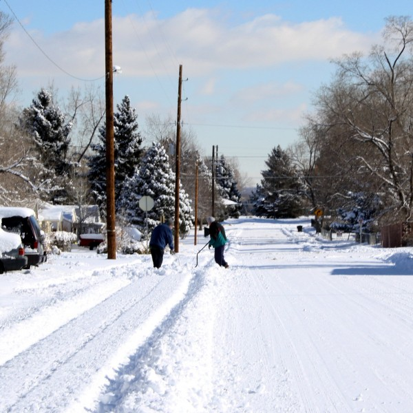 People Shoveling Snow - Free High Resolution Photo