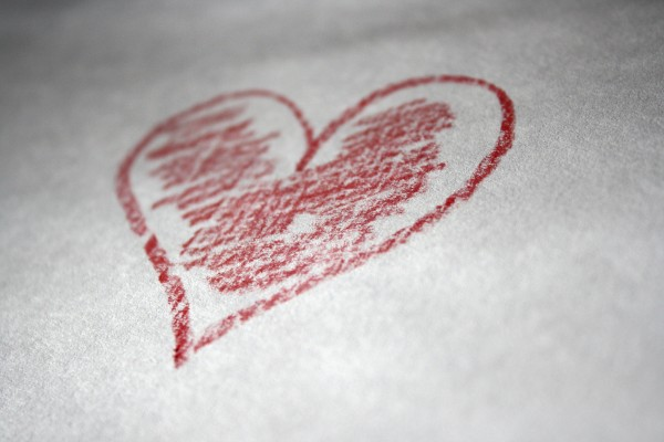Red Crayon Heart - Free High Resolution Photo