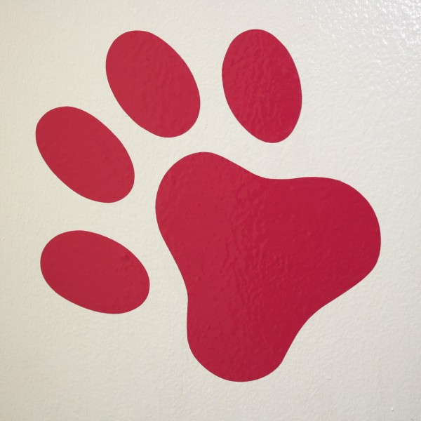 Red Pawprint Wall Decal - Free High Resolution Photo