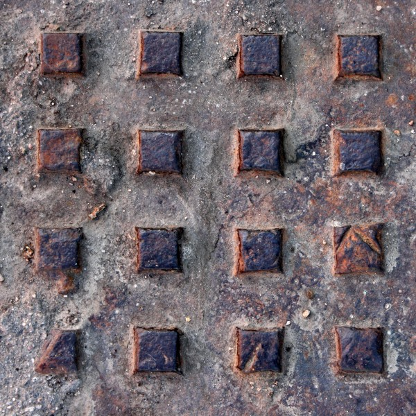 Rusted Metal Manhole Cover Texture - Free High Resolution Photo