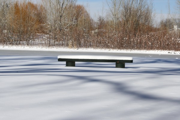 Snow Covered Park Bench - Free High Resolution Photo