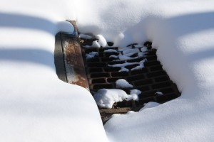 Snow Covered Storm Drain - Free High Resolution Photo