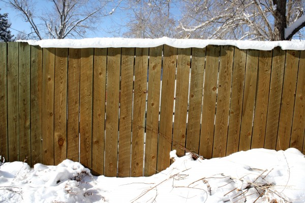 Snow Topped Fence - Free High Resolution Photo