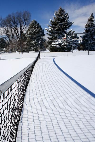 Tennis Court Net Buried in Snow - Free High Resolution Photo