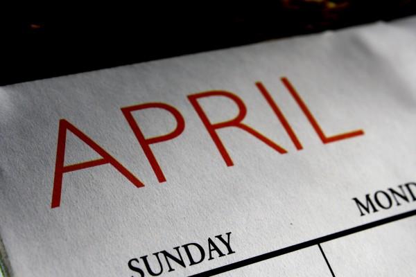 April Calendar - Free High Resolution Photo