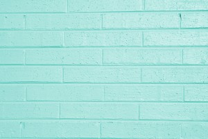 Aqua Green Painted Brick Wall Texture - Free High Resolution Photo