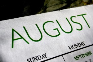August Calendar - Free High Resolution Photo