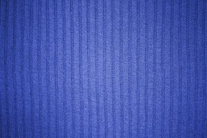 Blue Ribbed Knit Fabric Texture - Free High Resolution Photo