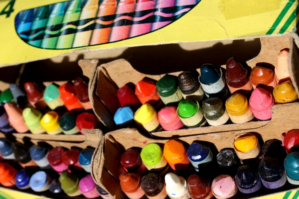 Box of Old Crayons - Free High Resolution Photo