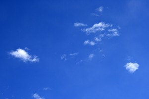 Bright Blue Sky with a few Tiny White Clouds - Free High Resolution Photo
