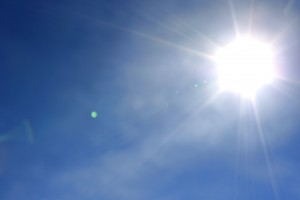 Bright Sun in Clear Blue Sky - Free High Resolution Photo