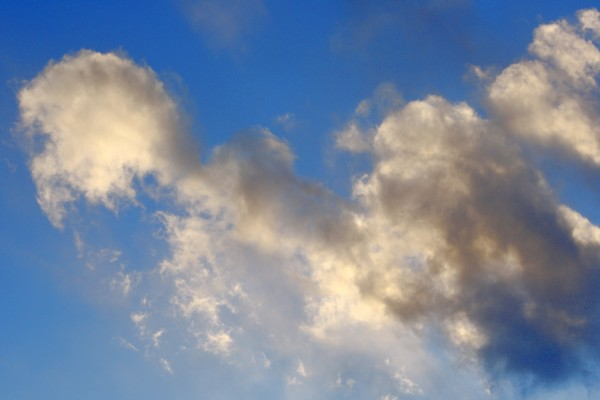 Brilliant Blue Sky with White and Black Clouds - Free High Resolution Photo