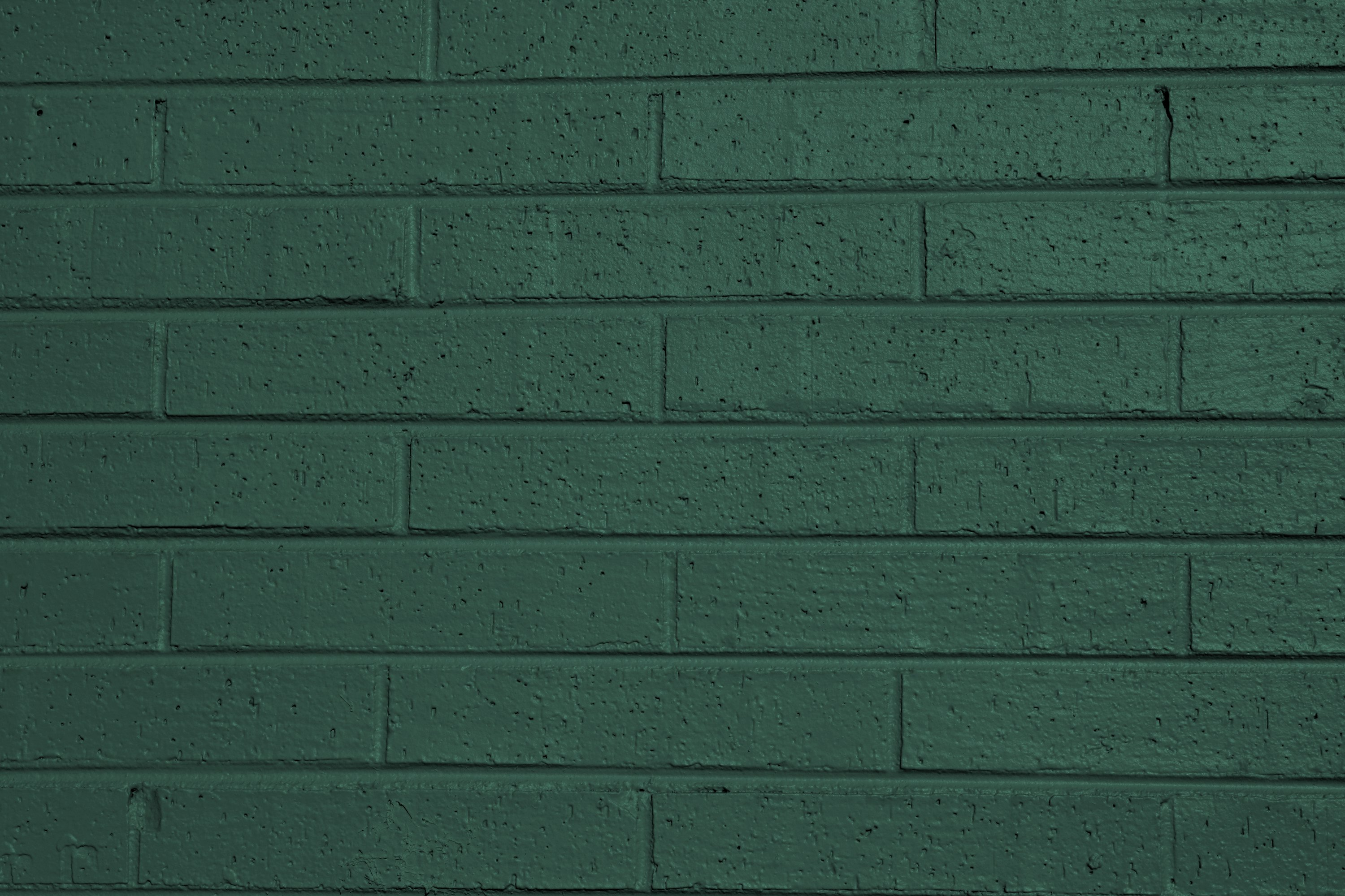 Green Painted Brick Wall Texture Picture Free Photograph