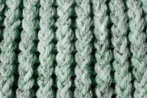 White and Green Knit Yarn Close Up Texture - Free High Resolution Photo