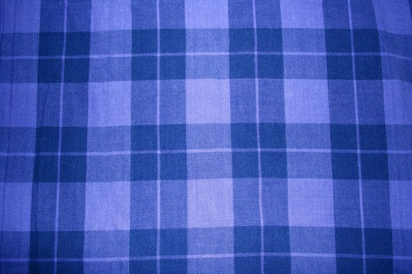 Indigo Blue Plaid Fabric Texture - Free High Resolution Photo