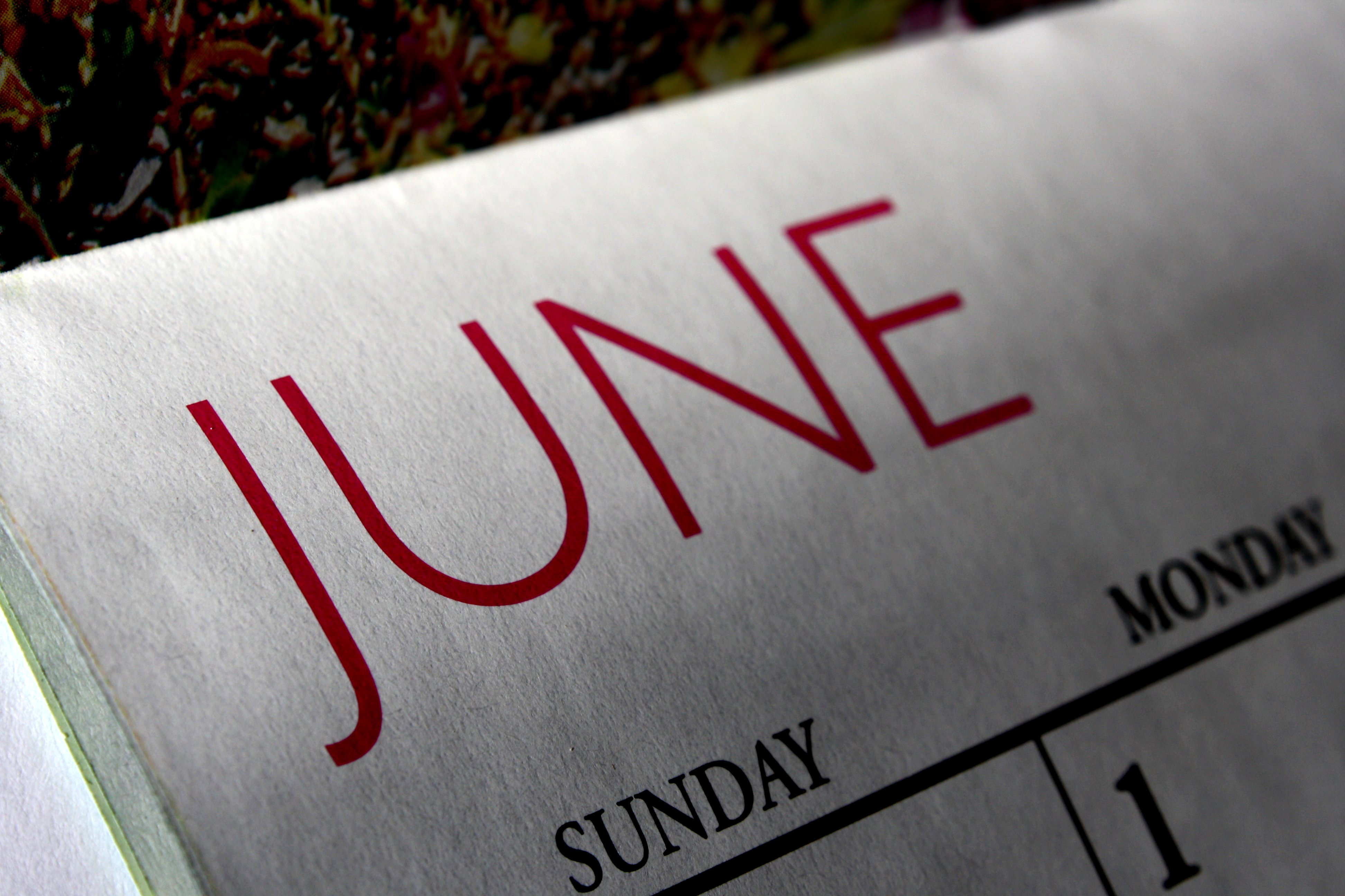 June Calendar Picture | Free Photograph | Photos Public Domain