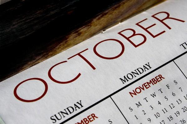October Calendar - Free High Resolution Photo