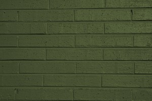 Olive Green Painted Brick Wall Texture - Free High Resolution Photo
