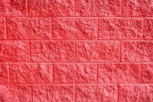 Painted Red Cinder Block Wall Texture - Free High Resolution Photo