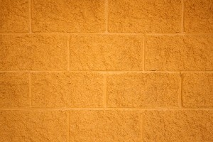 Painted Yellow Cinder Block Wall Texture - Free High Resolution Photo