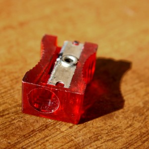 Red Plastic Pencil Sharpener - Free High Resolution Photo