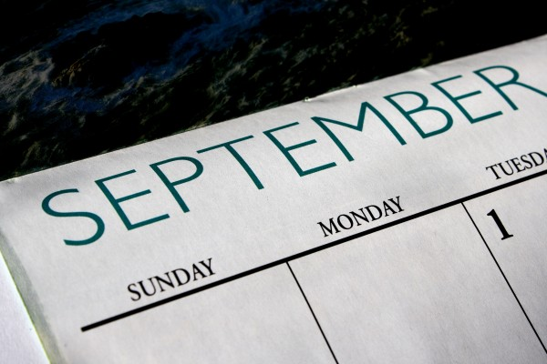 September Calendar - Free High Resolution Photo
