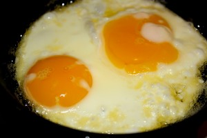 Sunny Side Up Fried Eggs Close Up - Free High Resolution Photo
