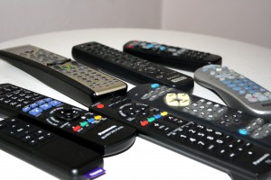 Table Top Covered with Remote Controls - Free High Resolution Photo
