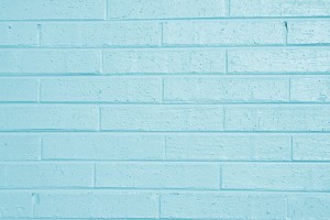 Teal Blue Painted Brick Wall Texture - Free High Resolution Photo