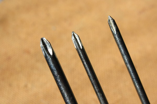 Tips of Three Phillips Head Screwdrivers - Free High Resolution Photo