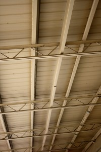 Underside of Metal Roof with Support Beams and Girders - Free High Resolution Photo