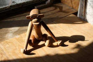 Wooden Monkey Toy in Sunbeam - Free High Resolution Photo