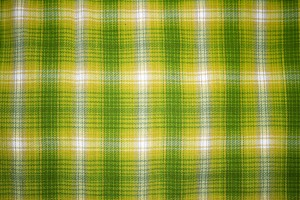Yellow and Green Plaid Fabric Close Up Texture - Free High Resolution Photo