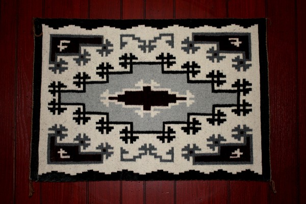 Black and White Navajo Rug - Free High Resolution Photo