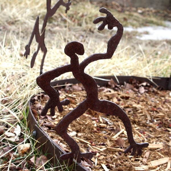Crazy Dancing Man Rusted Metal Figurine - Free High Resolution Photo