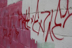 Graffiti on Cinder Block Wall - Free High Resolution Photo