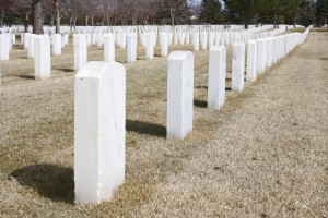 Rows of Headstones at Cemetery - Free High Resolution Photo