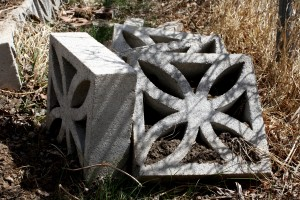 Decorative Cinder Blocks Piled in the Garden - Free High Resolution Photo