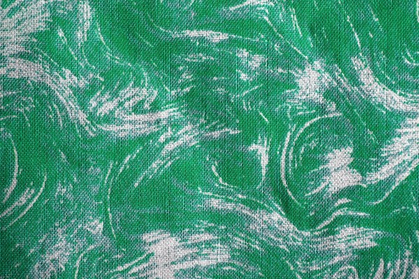 Fabric Texture with Green Swirl Pattern - Free High Resolution Photo