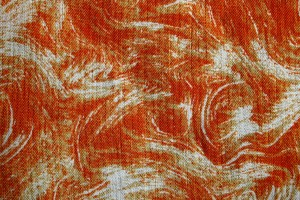 Fabric Texture with Orange Swirl Pattern - Free High Resolution Photo