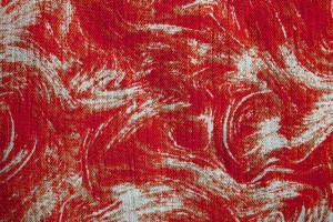 Fabric Texture with Red Swirl Pattern - Free High Resolution Photo